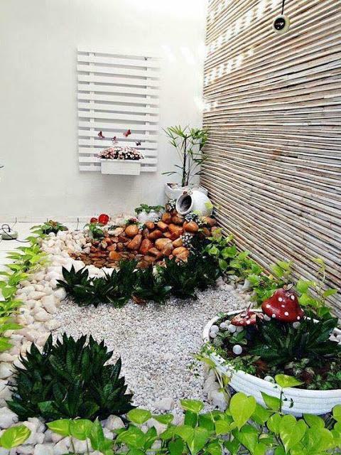 C mo hacer jardines peque os con piedras de colores o for Jardines con piedras y macetas