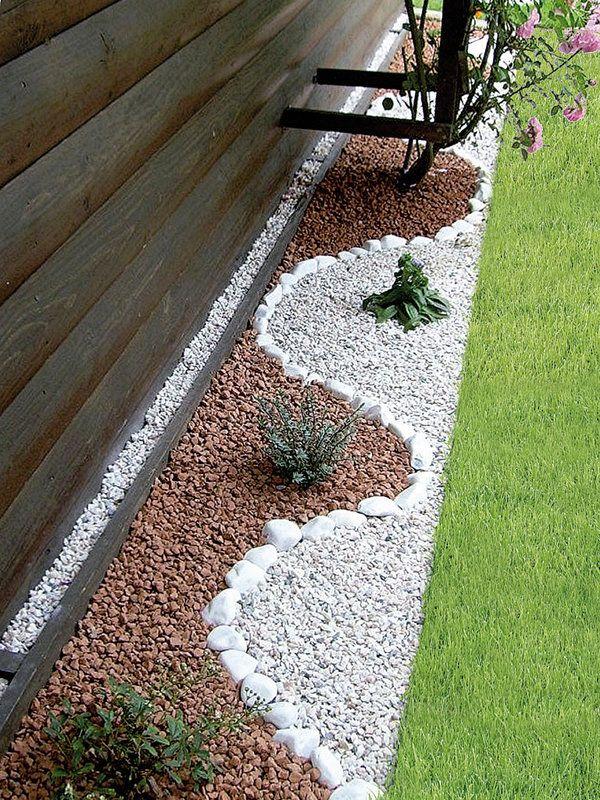 C mo hacer jardines peque os con piedras de colores o for Jardines con madera y piedra