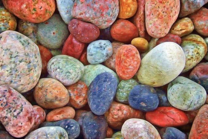 Sin Dudas El Uso De Cantos Rodados De Colores Y Gravas Son Un Buen Recurso  Paisajistico Utilizar Estas Piedras De Colores En El Jardin.