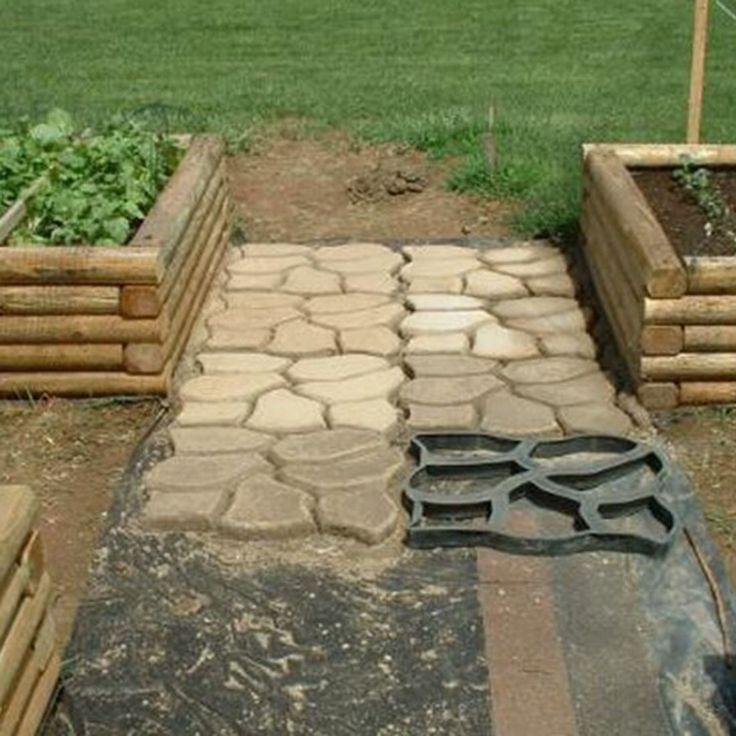 C mo hacer un camino de hormig n en el jardin for Como hacer un piso de cemento paso a paso