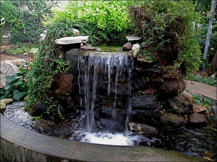 C mo hacer cascadas de agua para el jard n for Peces para fuente exterior