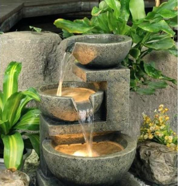 C mo hacer e instalar fuentes de agua para jard n for Fuentes de jardin