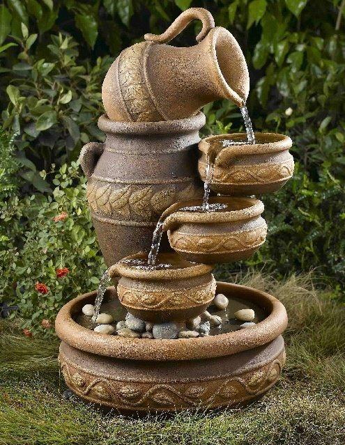 C mo hacer e instalar fuentes de agua para jard n for Fuentes ornamentales jardin