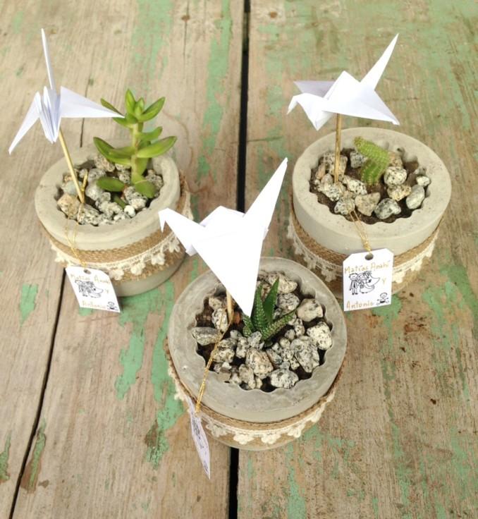 Ideas para hacer y decorar macetas de cemento increibles - Ideas para decorar macetas ...